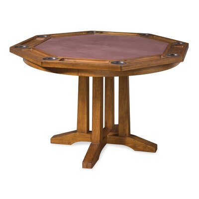 Arts and Crafts 5 Piece Poker Table Set