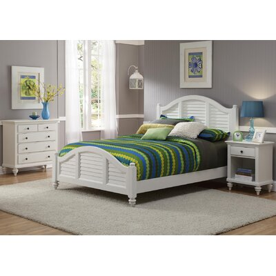Home Styles Bermuda Queen Bed, Nightstand, and Chest
