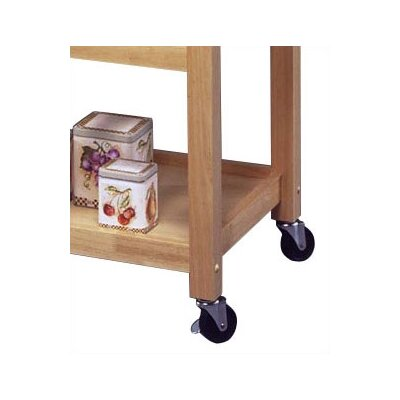 Home Styles Kitchen Cart with Stainless Steel Top