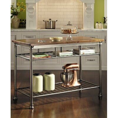 Home Styles The Orleans Prep Table with Butcher Block Top