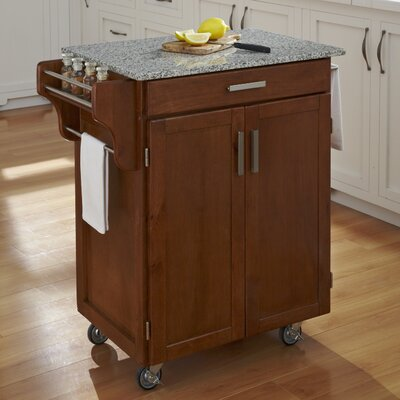 Home Styles Kitchen Cart with Granite Top