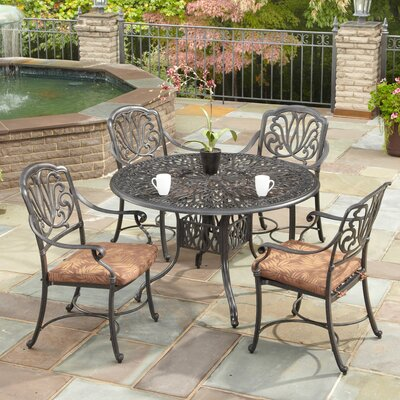 Floral Blossom 5 Piece Dining Set with Cushions