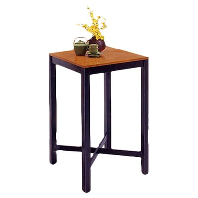 Home Styles Black Pub Table with Oak Veneer Top