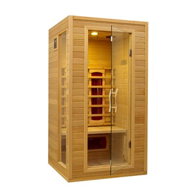 dynamic infrared 2 person ceramic far infrared sauna i reviews wayfair. Black Bedroom Furniture Sets. Home Design Ideas