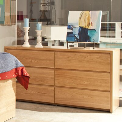 Urbangreen Furniture Thompson 6 Drawer Dresser