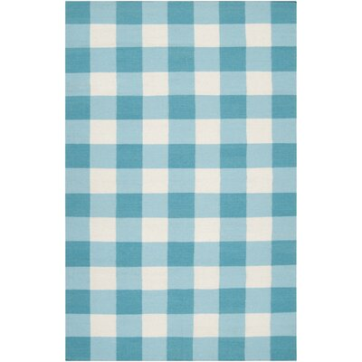 Happy Cottage Aqua Rug
