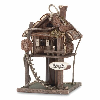 Zingz & Thingz Elaborate Tree House Birdhouse