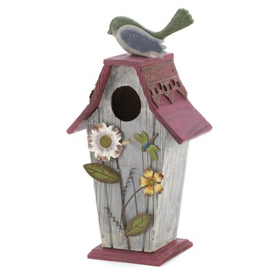 Zingz & Thingz Wildflower Cozy Cottage Birdhouse