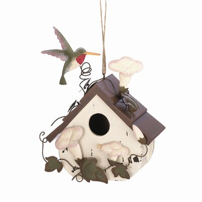 Zingz & Thingz Hummingbird Cottage Birdhouse