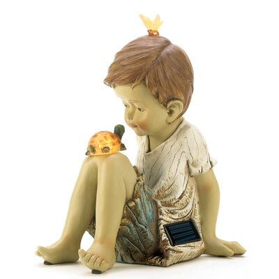 Friends Solar Lighted Garden Statue