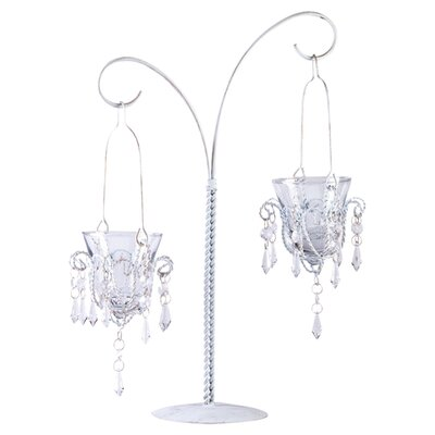 Zingz & Thingz Crystal Droplets Dual Candle Holder