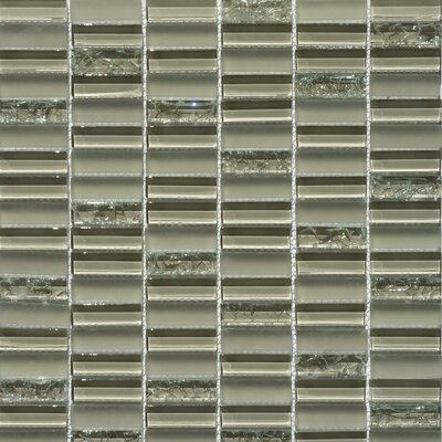 Jayda Series Mixed Crackled Glass Mosaic in Tan