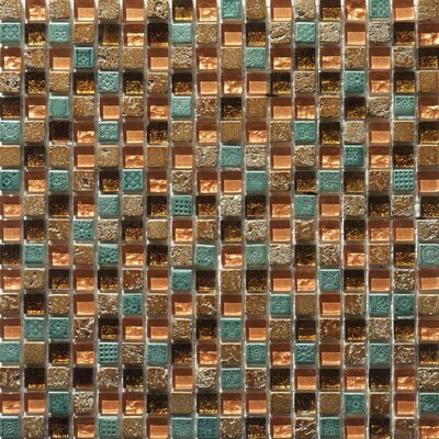 Flare Series Mixed Glass and Stone Mosaic in Copper