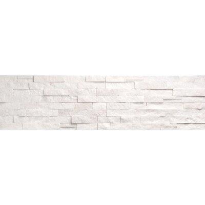 Faber Ice Ledge Stone Split Face Random Sized Wall Cladding Tile in White