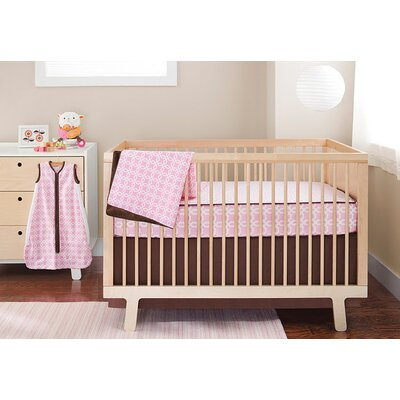 Skip Hop Lattice Bumper Free 4 Pieces Crib Bedding Set in Pink