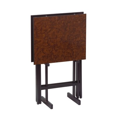 Gate House Furniture Folding Snack Table with Stand