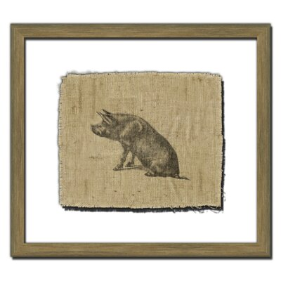 Pig on Linen I Wall Art