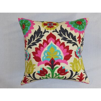 The Pillow Collection Tahsis Floral Pillow