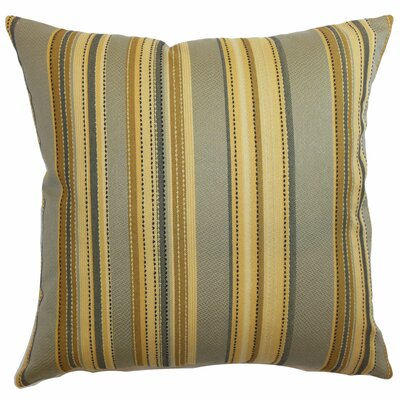 Pansy Stripes Polyester Pillow