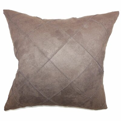 The Pillow Collection Nesbitt Plain Faux Suede Pillow