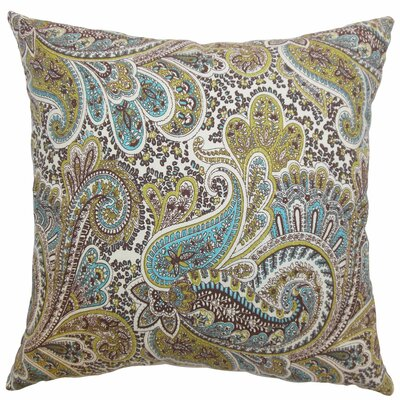 The Pillow Collection Dorcas Paisley Cotton Pillow