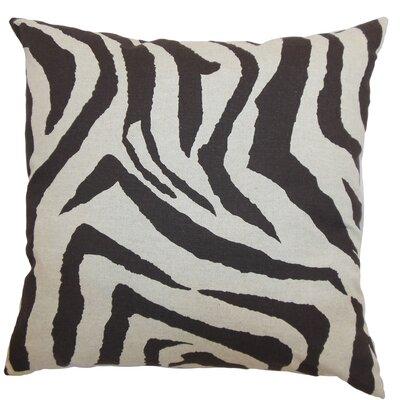 The Pillow Collection Ellie Zebra Linen Pillow