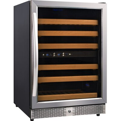 54 Bottle Wine Cellar with Dual Temperature