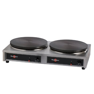 Eurodib Double Gas Cast Iron Crepe Griddle