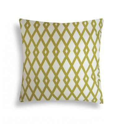 Graphic Fret Cotton Decorative Pillow