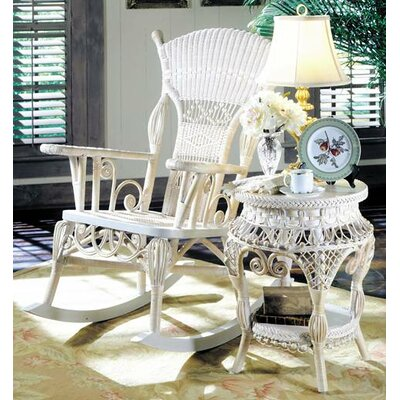Yesteryear Wicker Millie White Rocking Chair