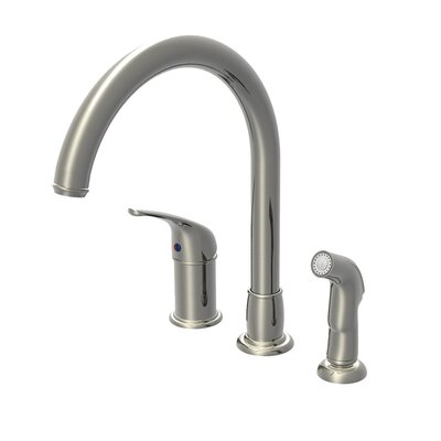 Single Handle Widespread Kitchen Faucet with Side Spray