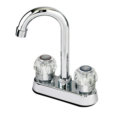 Aqueous Faucet Double Handle Centerset Kitchen Bar Faucet