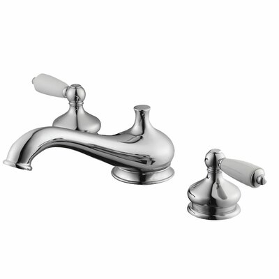 Aqueous Faucet Teabury Double Handle Deck Mount Roman Tub Faucet Lever Handle