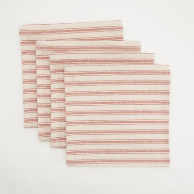 Provence Home Collection Ticking Dinner Napkin (Set of 4)