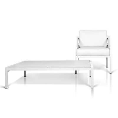 Mamagreen Zudu 1-Seater Lounge Chair with Cushion in White