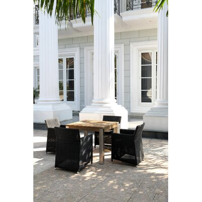 Mamagreen Vigo Square Dining Table with Stainless Steel Frame