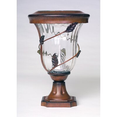 "GamaSonic Decorative 6 Light 6.5"" Solar Post Lantern"