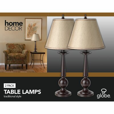 Globe Electric Company 1 Light Table Lamp (Set of 2)