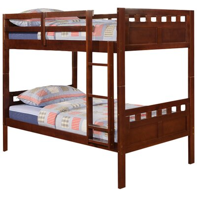 Donco Kids Deco Twin over Twin Bunk Bed with Built-In Ladder