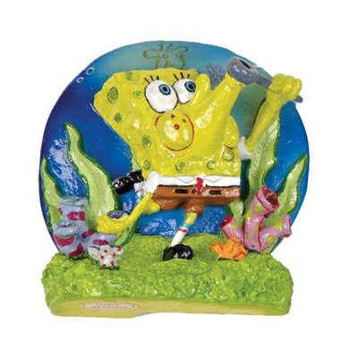 Penn Plax Nickelodeon SpongeBob SquarePants Blowing Bubbles Aerating Ornament