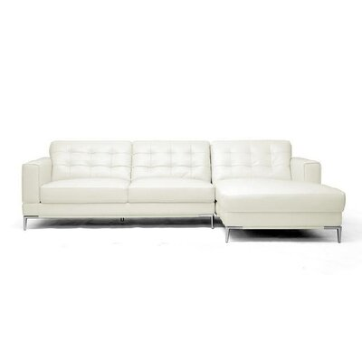 Wholesale Interiors Baxton Studio Babbitt Leather Sectional