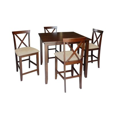 <strong>Wholesale Interiors</strong> Baxton Studio Natalie 5 Piece Counter Height Dining Set