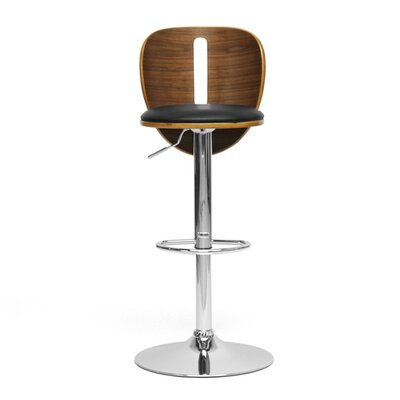 "Wholesale Interiors Baxton Studio Athens 23.75"" Adjustable Swivel Bar Stool"