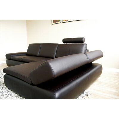 Wholesale Interiors Lavinia Leather Sectional