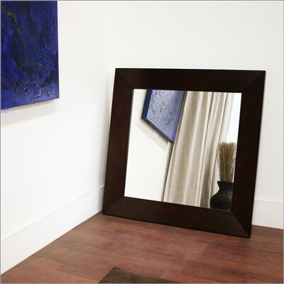 Wholesale Interiors Baxton Studio Daffodil Square Mirror in Dark Brown