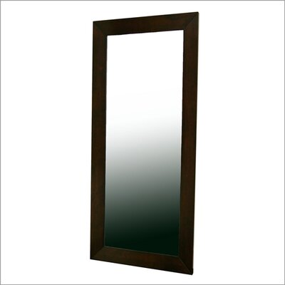 Wholesale Interiors Baxton Studio Daffodil Floor Mirror in Dark Brown