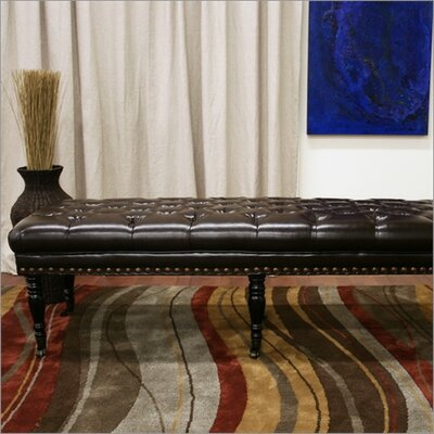 Wholesale Interiors Baxton Studio Lexington Bonded Leather Bench