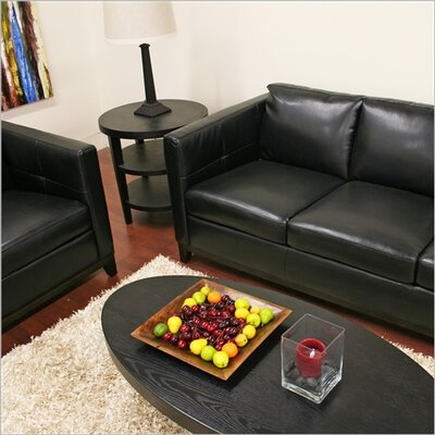 Wholesale Interiors Baxton Studio Rohn Modern Leather Loveseat and Sofa Set
