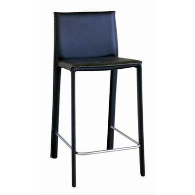 Wholesale Interiors Goneril Low-back Leather Counter Stool (Set of 2)