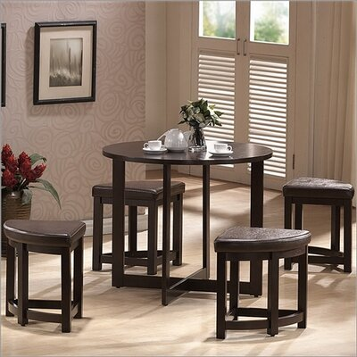 Wholesale Interiors Baxton Studio Rochester 5 Piece Counter Height Dining Set